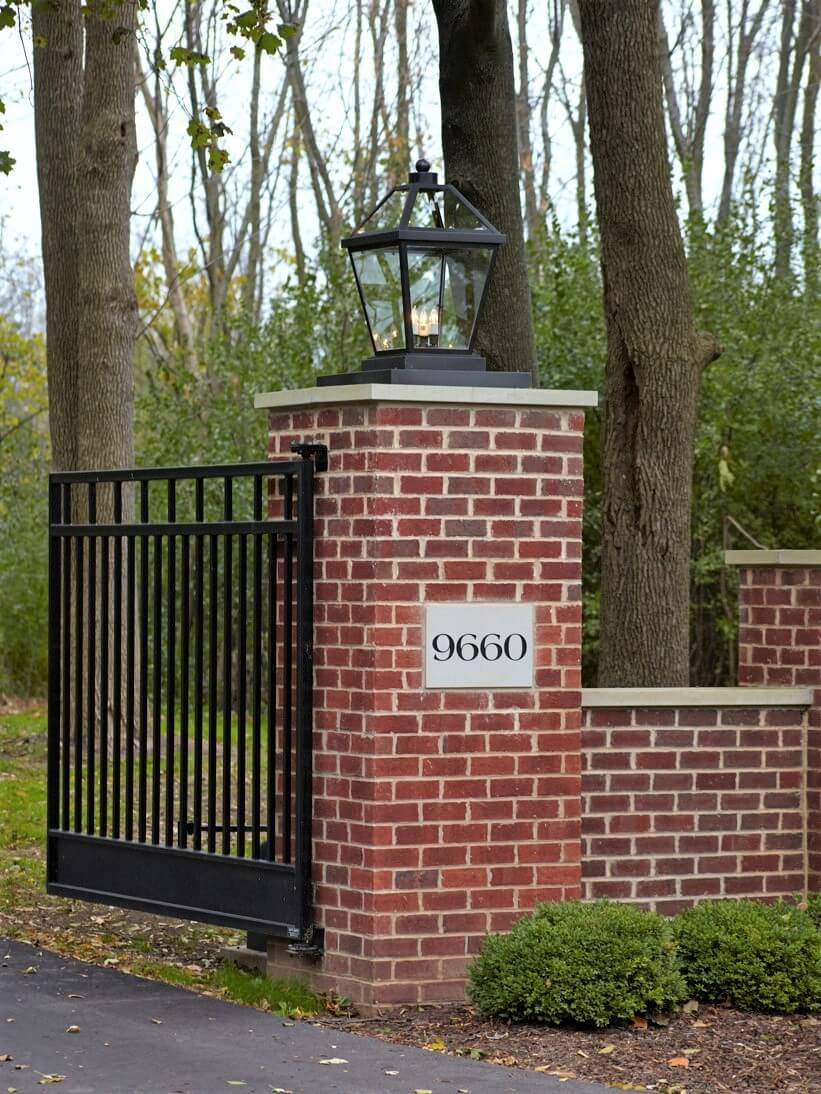 Large Pier Mount Lantern for Entry Gate