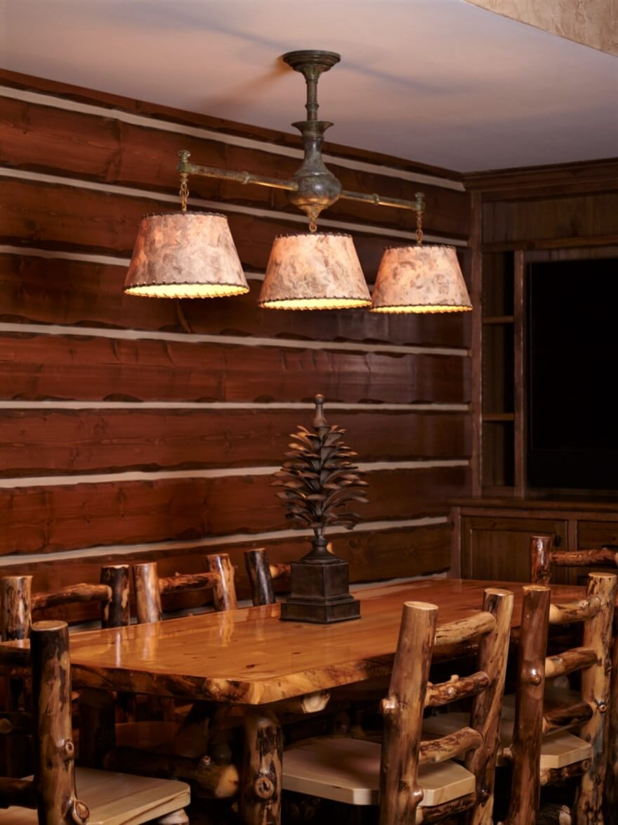 Rustil Log Cabin Dining Room Chandelier