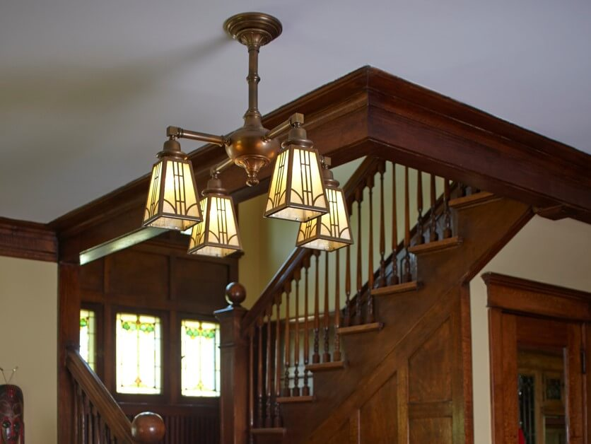 Arts & Crafts Inspired Chandelier