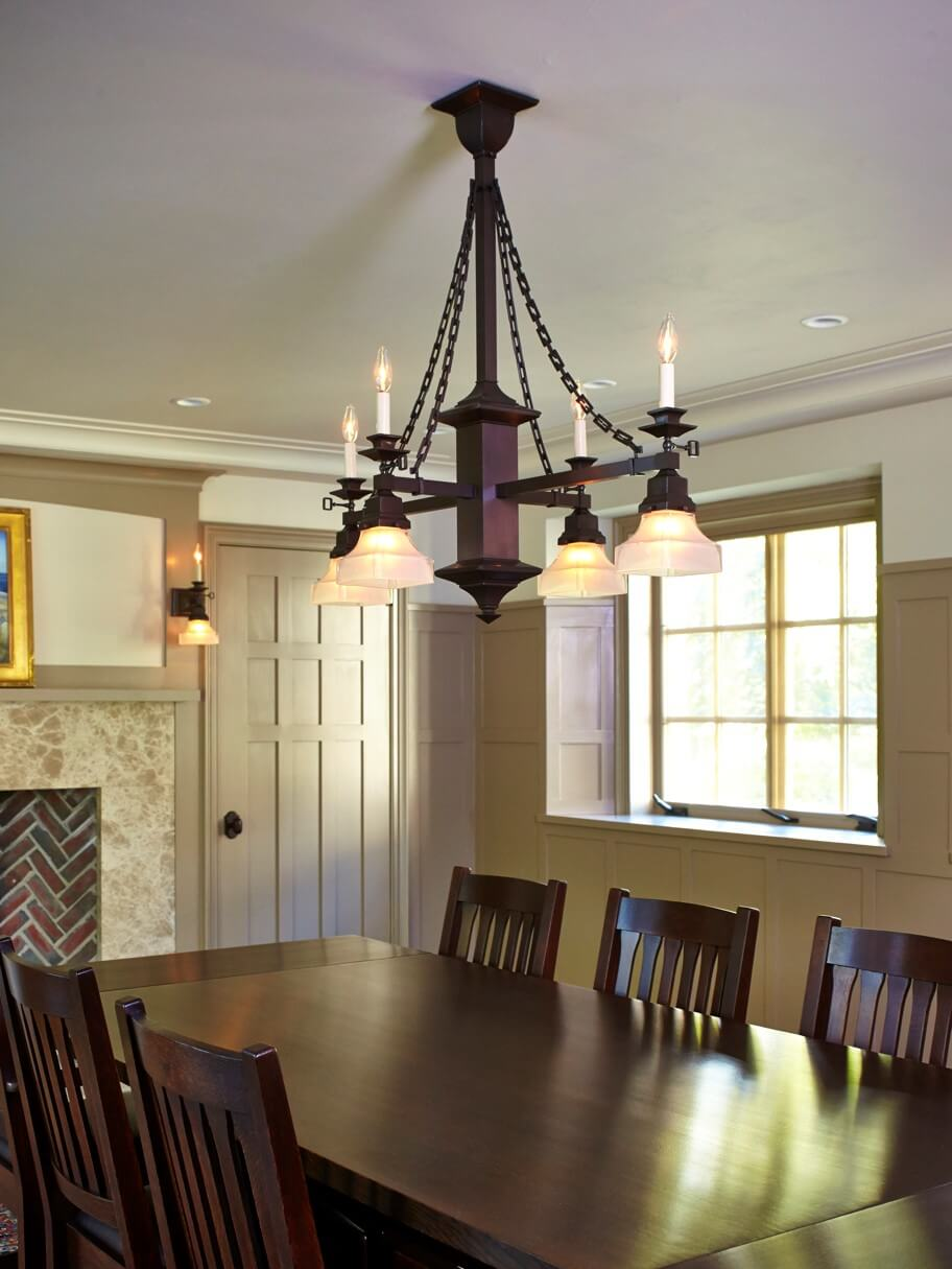 Tudor Revival Style Dining Room Chandelier