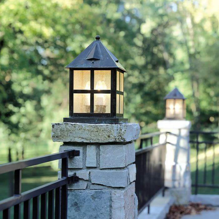 Exterior Pier Light Fixture For Commercial Buildings