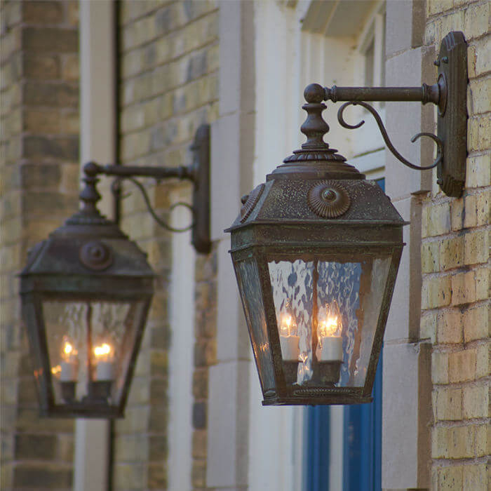French Country family of exterior lantern lights