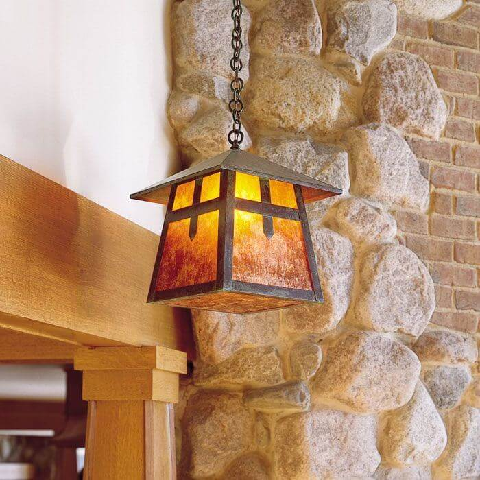 Stamford family of rustic lighting fixtures