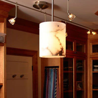 Cilindro Alabaster collection of genuine alabaster wall sconces and pendant lighting