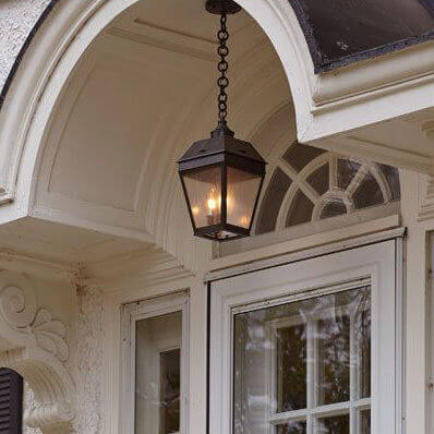 Georgian family of Colonial exterior lantern lights