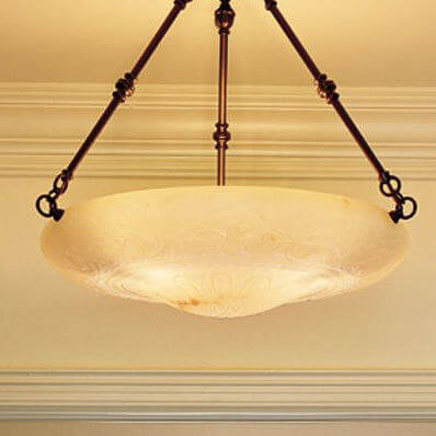 Italia Del Nord family of genuine alabaster pendant lighting