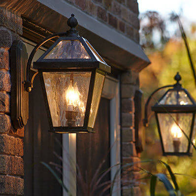 London family of traditional exterior lantern lighting