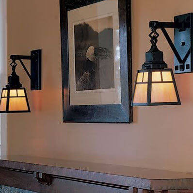 Nashota family of Arts & Crafts light fixtures