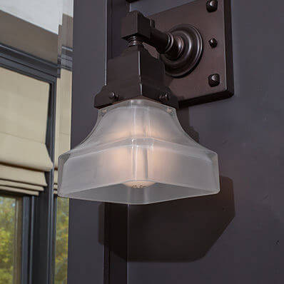 Oak Park family of contemporary lighting fixtures