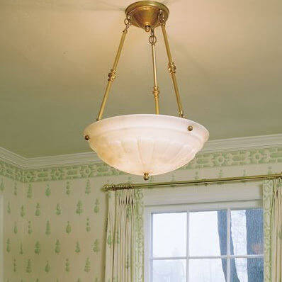 Petal family of genuine alabaster pendant lighting