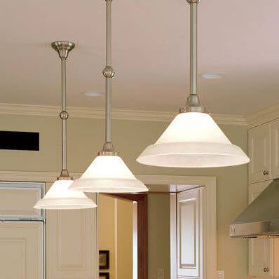 Shoreland family of modern lighting fixtures