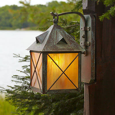 Stonehaven family of rustic exterior lantern lighting