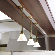 Polished Brass One Light Kitchen Pendant Pendant