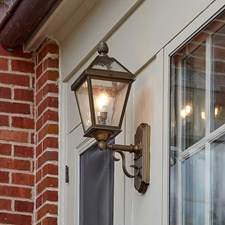 London Lantern™ 8 in. Wide Scrolled Coach Exterior Wall Light