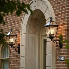 London™ Lantern 10 in. Wide Scrolled Coach Exterior Wall Light