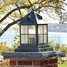 "Stonehaven 12"" Wide Lantern Exterior Pier Light"