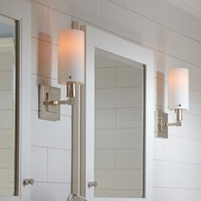 Modern One Light Tribeca Sconce with glass cylinder shade