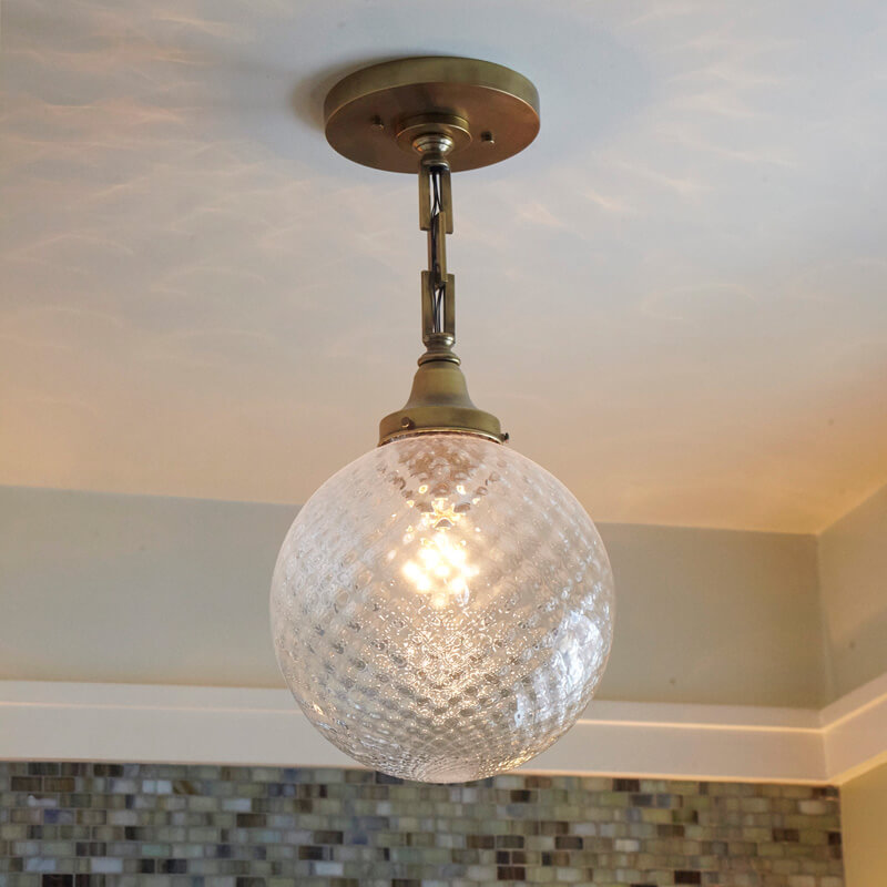 10 Diameter Chain Hung Pendant