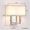 Two light contemporary sconce with box shade