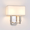Two light transitional sconce with box shade