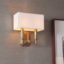 Two light modern sconce with box shade