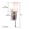 Modern polished nickel one light sconce