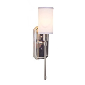 Modern One Light Sconce with drop finiall