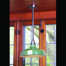 Original Enamel Shade Bistro Pendant light