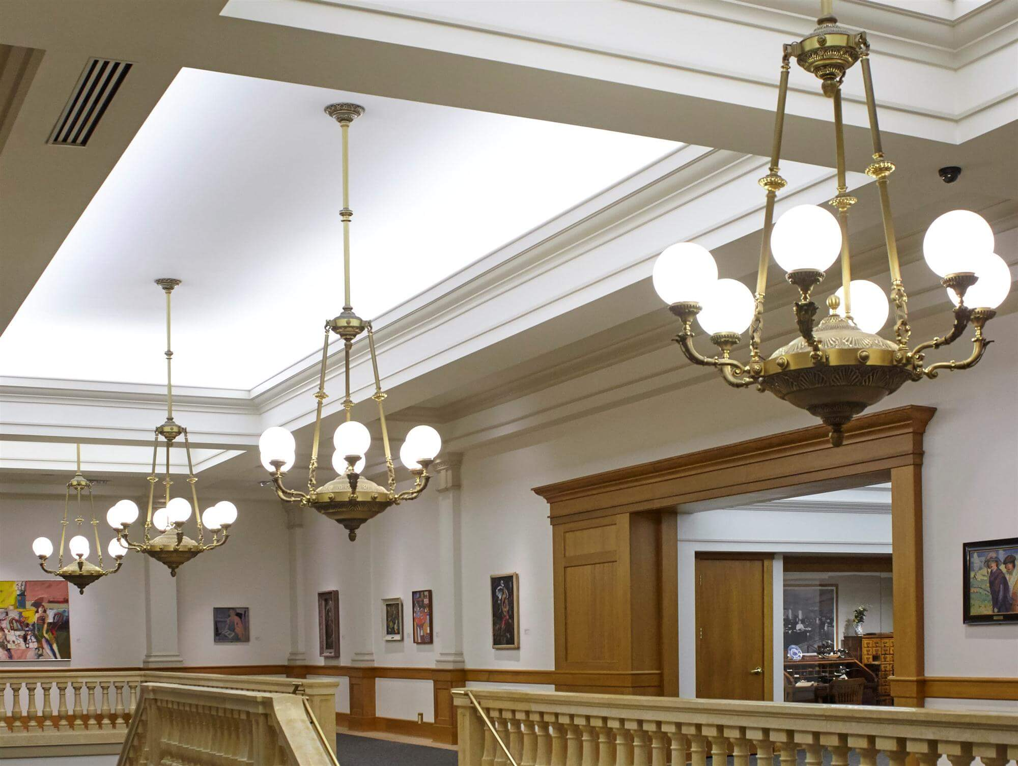 Historic Reproduction Chandeliers for Library