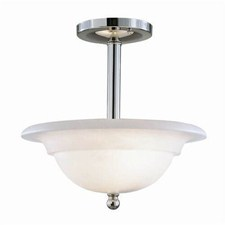 Larkspur™ 12 in. Diam Single-Stem Alabaster Pendant