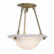 Larkspur™ 12 in. Diam Ornate Multi-Stem Alabaster Pendant