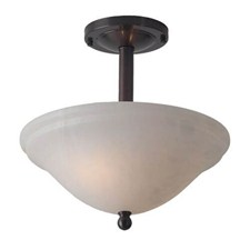 Navarra™ 12 in. Diam Single Stem Alabaster Pendant