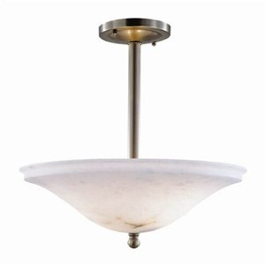 Navarra™ 16 in. Diam Single-Stem Alabaster Pendant