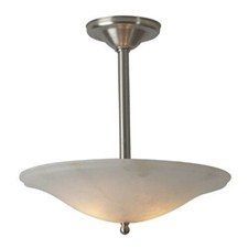 Navarra™ 19 in. Diam Single-Stem Alabaster Pendant