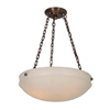 Tuscany™ 19 in. Diam Alabaster Pendant with Chain No. 4