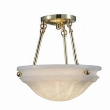 Palladian™ 12 in. Diam Multi-Stem Alabaster Pendant