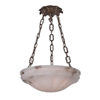 Palladian™ 19 in. Diam Alabaster Pendant with Chain No. 6