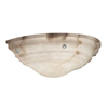 Hampton™ 14 in. Wide Ball Finials Alabaster Wall Sconce