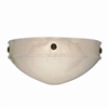 Tuscany Sconce™ 12 in. Wide Ornate Rosettes Alabaster Wall Sconce