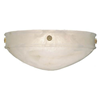 Tuscany™ 16 in. Wide Ornate Rosettes Alabaster Wall Sconce