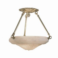 Italia Del Nord™ 12 in. Diam Ornate Multi-Stem Handcarved Alabaster Pendant