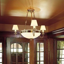 Tuscany with Band™ 3 arm Small Alabaster Chandelier with electric candles