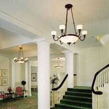 Classical™ 6 arm Medium Alabaster Chandelier with 2-1/4 in. shade holders