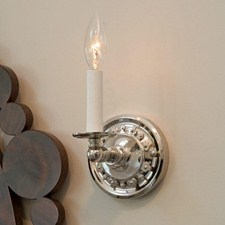 Argine™ One Light Straight Arm Sconce with electric candle