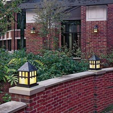 Bungalow™ Lantern 8 in. Wide Exterior Pier Light