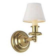 Shoreland™ One Light Straight Arm Sconce with electric candle