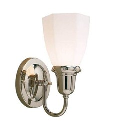 Retro™ One Light Curved Arm Sconce with 2-1/4 in. shade holder