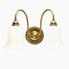 English Nouveau™ Two Light Curved Arm Sconce