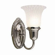 Sheraton™ One Light Curved Arm Sconce with 2-1/4 in. shade holder