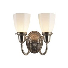 Provence™ Two Light Curved Arm Sconce with 2-1/4 in. shade holders